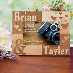 Couples Picture Frame | Engraved Couples Picture Frame