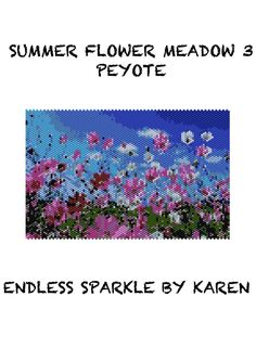 Summer Flower Meadow 3 Peyote Tapestry