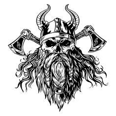 Viking Helmet, Viking Axe, Viking Runes, Axe Tattoo, Norse Tattoo, Art Clipart, Vector Art, Eps Vector, Viking Warrior Tattoos