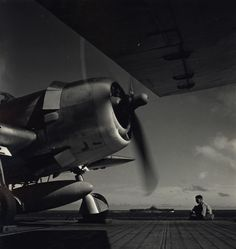 U.S. Navy Aircraft carrier during ww2... (circa 1943) Photo by Fons Iannelli