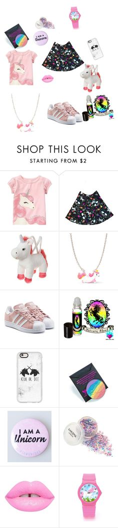"""""""Unicorn"""" by mjbol ❤ liked on Polyvore featuring adidas Originals, Casetify, Devinah Cosmetics and Lime Crime"""