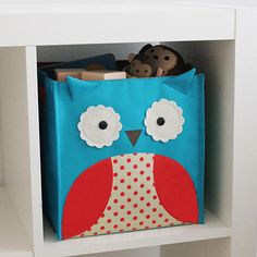 remake toy fabric bins from walmart or target with fabric and felt