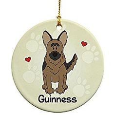 Personalized German Shepherd Christmas Ornament Loved By My German Shepherd Popular Dog Breeds, Love My Family, Dog Names, German Shepherd Dogs, First Christmas, Dog Photos, Merry, Puppies, Decorating