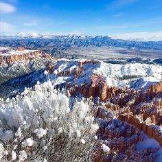 Stamp #357 - USA: Make the trek up to Bryce Canyon National Park in Utah and you will certainly feel like you've landed on a different planet! Hiking trails can be limited during this time of year due to freezing temperatures (think below 0 F at the bottom of the canyon!) but bundle up and you can enjoy the outta-this-world views from Bryce Point and Inspiration Point!. Thanks @lemonbubbly for the awesome #stamp!  For more awesome travel tips and adventures download the Stamp Travel App…