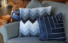 25 Easy decorative pillow tutorials (Make throw pillows