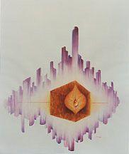 Fugue 1981, Nouméa aquarelle  © Marcel Pétron  #gouttedeau