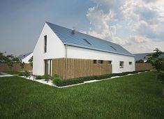 Projekt domu Murator EC379 Nieporównywalny (z wentylacją mechaniczną i rekuperacją) 164,6 m2 - koszt budowy - EXTRADOM Shed Homes, Dream House Exterior, Home Fashion, Garage Doors, Outdoor Structures, Cabin, Architecture, House Styles, Building