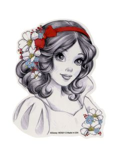 Disney Snow White Sketch Sticker | Hot Topic