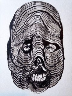 Grady Gordon is a prolific monotype artist. He mostly depicts nightmarish, monster-like portraits influenced by various mythologies from across the world.