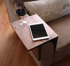 wooden armrest