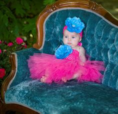 Ready for the Party. Baby Turquoise Couture Tutu Crochet Dress  Tutus Girls
