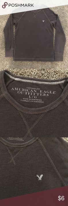 American Eagle long sleeve shirt American Eagle long sleeve shirt, good condition, color brown, size Large (men). American Eagle Outfitters Shirts Tees - Long Sleeve