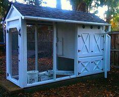 Doe het zelf voorbeeld van een huisje voor kippen. Fence, Shed, Outdoors, Outdoor Structures, Outdoor Rooms, Off Grid, Outdoor, Barns, Sheds