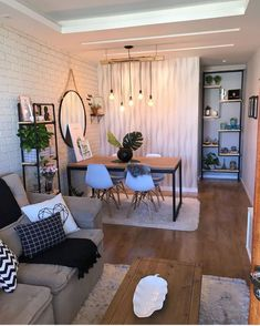 spends her holidays right in our Skyline Short Vanish Small Space Living Room, Small Room Bedroom, Interior Design Inspiration, Home Interior Design, Living Room Designs, Living Room Decor, Hijab Mode, Simple House, Decoration