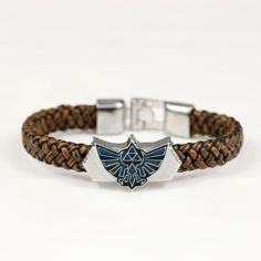 J&R Men Jewelry Leather Bracelet Game The Legend Of Zelda Bracelets Boy Gift Cosplay Bangles Leather Braided Wristband YS10832