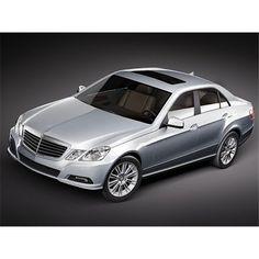 Mercedes E-class 2010 Sedan Midpoly - 3D Model