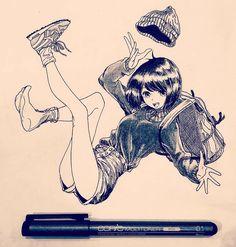 how are peeps so good a mangaaaaa Manga Anime, Manga Kawaii, Anime Art, Sketch Manga, Manga Drawing, Manga Art, Drawing Skills, Drawing Poses, Drawing Ideas