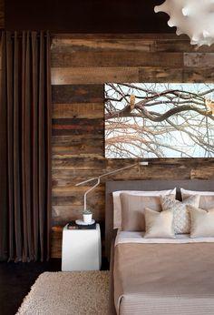 Mooie houten achterwand