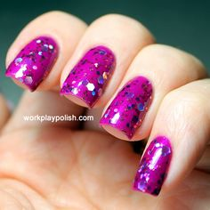 Candeo Orchid over Sally Hansen Purple Posy