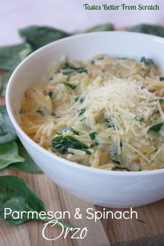 Parmesan and Spinach Orzo on MyRecipeMagic.com