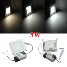 3W Square Ceiling Panel White/Warm White LED Lighting AC 85-265V  Worldwide delivery. Original best quality product for 70% of it's real price. Buying this product is extra profitable, because we have good production source. 1 day products dispatch from warehouse. Fast & reliable...