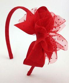 Look at this #zulilyfind! Red Sparkle Headband by Fairy Bow Mother #zulilyfinds