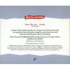 "For Sale -Gloria Estefan Here We Are USA Promo  CD single (CD5 / 5"")- See this and 250,000 other rare and vintage records & CDs at http://eil.com/"