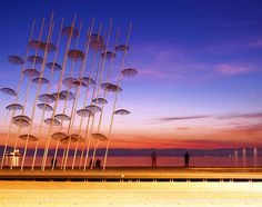 Picture of the day for July 09 2017 at by Bing; Umbrellas by George Zongolopoulos Macedonian Museum of Contemporary Art Thessaloniki Greece ( SIAATH/Shutterstock) Greece Wallpaper, Wallpaper Pc, Thessaloniki, Greece Islands, Image Archive, Image Of The Day, Museum Of Contemporary Art, Greece Travel, Amazing Destinations