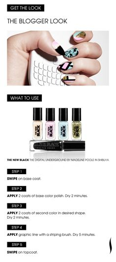 Learn How: The Blogger Look with The New Black Digital Underground set in Shibuya. #Sephora #Nailspotting #NailArt