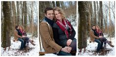 Engagement shoot in the snow on a Rosedale Swing Company Tree swing! Awesome photography