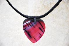 Red Dragon Vein Agate heart pendant necklace, sterling silver chain necklace, red heart necklace, agate necklace, handmade necklace, pendant by KarmaKittyJewelry on Etsy
