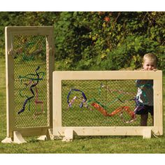 Weaving frames for fine motor skills and creative expression and free thinking play.