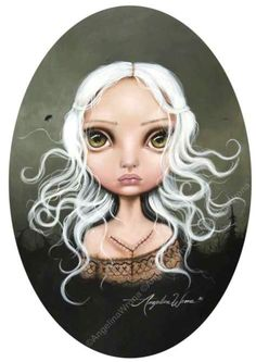 Image shared by carismatic. Find images and videos about art print and angelina wrona on We Heart It - the app to get lost in what you love. Arte Lowbrow, Dark Artwork, Galerie D'art, Gothic Art, Dark Gothic, Surreal Art, Art Girl, Amazing Art, Awesome