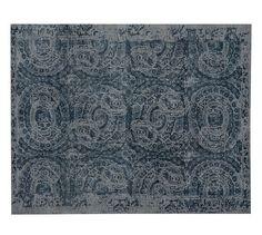 Bosworth Printed Wool Rug - Blue