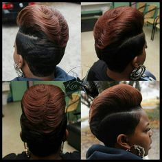 Feathered Pompadour - Tiktok Hair Make-Up My Hairstyle, Pretty Hairstyles, Love Hair, Gorgeous Hair, Short Hair Cuts, Short Hair Styles, Pixie Cuts, Pixie Styles, Sassy Hair