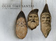 Primitive EPattern Olde Time Santa Ornaments by wrprimitives, $10.00