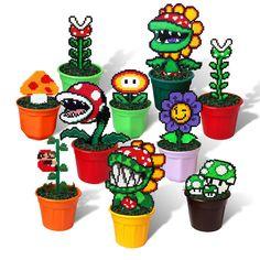10 Super Mario Bros Figuras En Macetas granos de píxeles hecho a mano decoración de Juguete de 8 Bits in Video Games & Consoles, Video Game Merchandise | eBay
