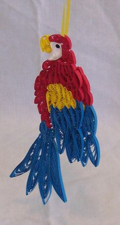 Quilled Macaw Ornament! - Etsy