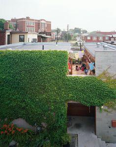 Adaptive reuse, semi-courtyard house, Canada.