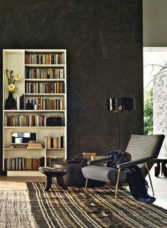 Wall-mounted multi-layer wood #bookcase D.357.1 by MOLTENI & C. | #design Gio Ponti @Molteni&C Dada