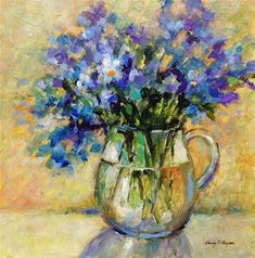 "Daily Paintworks - ""Something Blue"" - Original Fine Art for Sale - © Nancy F. Morgan"
