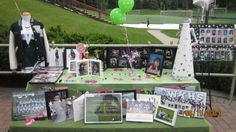 Destiny's memory table from her graduation party