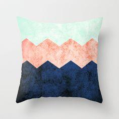 triple chevron (2) Throw Pillow