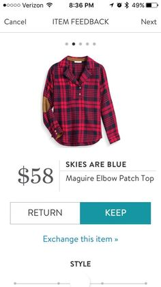 Skies Are Blue Maguire Elbow patch top - red - Stitch Fix 2016. I love Stitch Fix! A personalized styling service and it's amazing!! Simply fill out a style profile with sizing and preferences. Then your very own stylist selects 5 pieces to send to you to try out at home. Keep what you love and return what you don't. Only a $20 fee which is also applied to anything you keep. Plus, if you keep all 5 pieces you get 25% off! Free shipping both ways. Schedule your first fix using the link below…