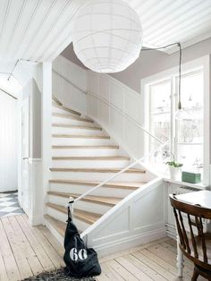 When building stairs make them just a bit wider and they'll be gorgeous! Closet Storage Systems, Toy Storage Solutions, Cottage Stairs, Farmhouse Stairs, Sweet Home, Building Stairs, Loft Stairs, Exterior Stairs, Entry Hallway