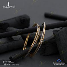 Kadli Bangles gms) - Fancy Jewellery for Women by Jewelegance Gold Bangles Design, Gold Earrings Designs, Gold Jewellery Design, Gold Jewelry Simple, Gold Mangalsutra Designs, Fancy Jewellery, Gold Bracelet For Women, Women Jewelry, Jewelry Art