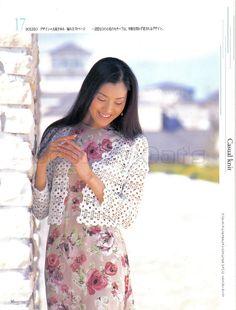 Crochetemoda: Casaqueto Branco de Crochet ~ Diagrams/Charts Only ~ Not in English