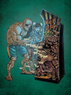 Street Fighter - Chun-Li and Sagat by Christopher Schons *
