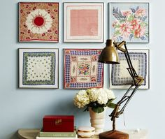 Handkerchief wall art