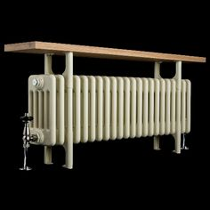 Cream Old School Bench 5 Column Radiator 496mm high x 1014mm wide